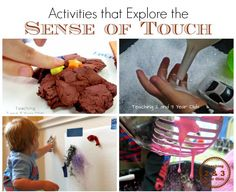 activities that engage the sense of touch from teaching 2 and 3 year olds