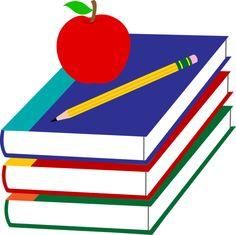 School Books With Apple and Pencil - Free Clip Art William Butler Yeats, Ayurveda, Cult Of Pedagogy, Online Textbook, Sight Words List, School Clipart, Online Tutoring, New School Year, School Daze