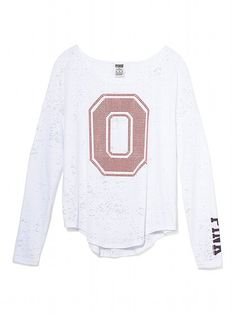 486168671005f Victoria s Secret PINK The Ohio State University Bling Long-sleeve Drapey  Tee