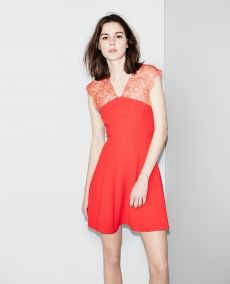 Soiree robe rouge alma