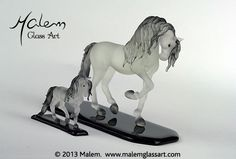 Equine Art by Malem Glass Artist Andalusian Horse, Equine Art, Glass Art, Sculptures, Creatures, Horses, Big, Artist, Unique