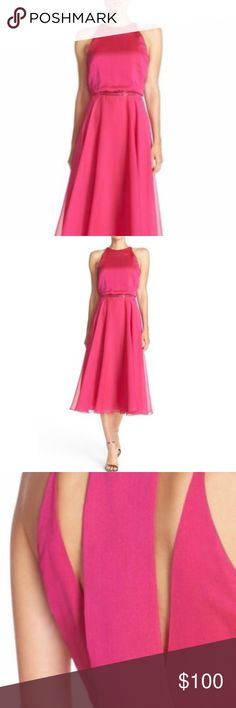 NWT Halston Heritage Fit Flare Dress Cut Out Back Brand new with tags  Size 4 Halston Heritage Dresses