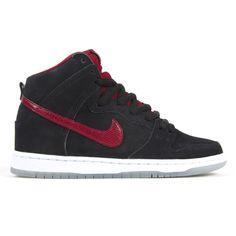 separation shoes e53fb ba82e  Nike Dunk High Pro SB Black Gym Red-White-Wolf Grey  sneakers