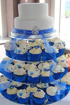 Blue Wedding Cakes | Inchydoney Hotel Wedding Cake and Cupcakes | Flickr - Photo Sharing!
