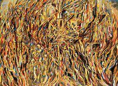 """""""L'Incendie I"""" (1944), importante obra da pintora portuguesa Maria Helena Vieira da Silva, está em exposição no MAM-Rio Common People, 15th Century, Painters, Colors, World, Scallops, Art"""