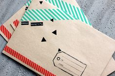 """I think I'm going to send out Christmas cards this year. Somebody stop the presses! Ha! I typically don't send them out, so this is a big deal. While browsing for washi tape ideas, I happened to see these decorated envelopes and thought """"bingo."""" What a perfect way to decorate the outside of my envelopes! …"""