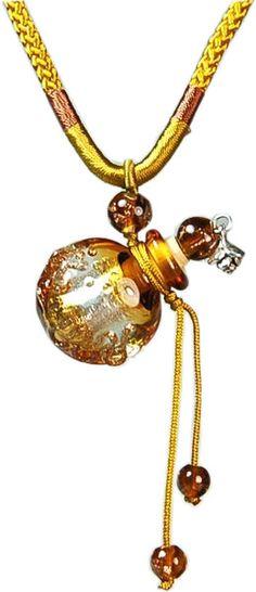 Golden Heart - Aroma-Schmuck - Aroma-Necklace
