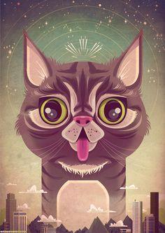 Lil Bub by ~jamesgilleard on deviantART