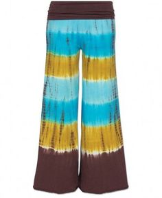 Positive Vibe Tie-Dye Wide Leg Hippie Pants