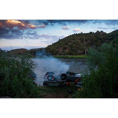 When morning breaks, the search for trout is on. Throwback to lazy days on the river, and long summer nights.
