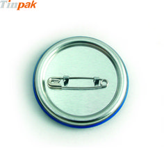 The rounded edges are folded and protect us from hurt when we hold in hand.     http://www.tinpak.us/Products/RoundCustomPrintedMetalBadge.html