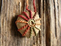 Crocheted Stone  Lace Stone  River Rock by TheTreeFolkHollow