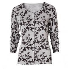 Butterfly Print Cardigan by Poem
