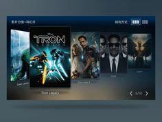 Movie list Gif in TV designed by Jason Zhan.