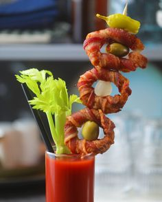 Bacon Onion Ring Bloody Mary