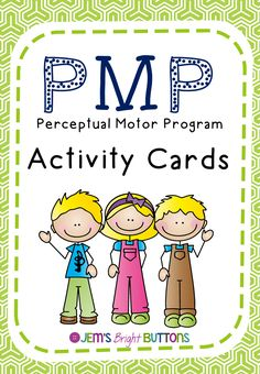This is a set of 38 activity cards designed to be used as part of a perceptual motor program or to support exploring and improving gross motor skills. The activities included cover areas such as balance, hand-eye co-ordination and crossing the mid-line. The activities also promote listening and following instructions.
