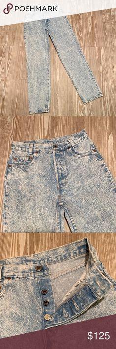 6c0e82d6 VTG Levi's 701 29x30 Student Fit Mom Jeans Acid Gently used, Vintage Levi's  701 Student