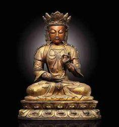 清十八世紀  木漆金菩薩坐像