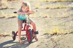 best prop ever from ebay : vintage tricycle. Summerland Photography. Child Portrait
