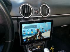 Add a Samsung Galaxy or Apple iPad to Your Car's Dash with This DIY Removable Tablet Mount « Car Mods :: WonderHowTo Ipad Car Mount, Tablet Mount, Truck Mods, Car Mods, Radios, Tablet Holder For Car, Used Cars Movie, Jl Audio, Bond Cars