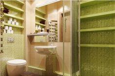 Aranżacja łazienki wystrój nowoczesny w kolorach zieleń - projekt wnętrza #9117093, Homplex