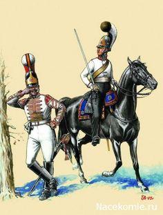 Russian; Life Guard Cavalry Regiment 1803-07. Trumpeter Full Dress & Senior Officer, Campaign Dress