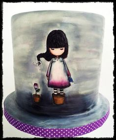 Gorjuss The last Rose ~ beautiful example of cake painting artist Suzanne Woolcott licensed merchandise to Santoro