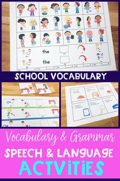 vocabulary activitie