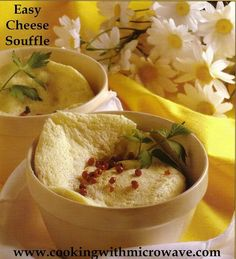 Easy Cheese Souffle for Microwave This recipe shows you that thanks to your microwave, you can make a perfect cheese souffle in just a few minutes, and it turns out perfect every time.