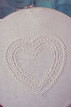 French knots - white on white embroidery