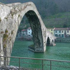 Ponte Maddalena near Lucca, Italy