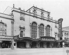 Historic photo of the Palace Theater, opened in 1921 (has since become the Morris Performing Arts Center).