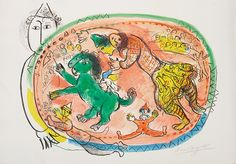 """""""Le Cercle Rouge"""" by Marc Chagall  - Park West Gallery"""