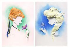 Disney Paper Sculptures