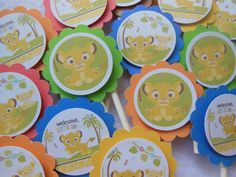 baby simba cake topper | Baby Lion King Simba Toppers Baby showers first birthday matching ...