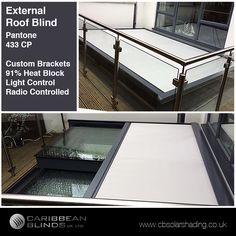 This week in #Ealing #London our team fitted this bespoke Cayman #RoofBlind on this very large skylight window. We created some custom brackets in order for the blinds to fit over this large depth. The customer chose our popular hardware colour to match their window frame work. 👌 #HappyCustomer   If you would like to find our more on how we can integrate a shading system on the roof of your home or business then call us - 0344 800 1947