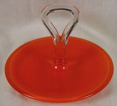 """Child's Vintage Glass Serving Candy Dish  4 1/2"""" Wide"""