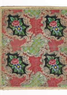 A Delicate Repeating Nicolai Berlin WoolWork Pattern - Gorgeous