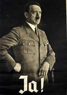 """48. This poster urged a """"Yes"""" vote on one of the four referendums Hitler called during the 1930's. I believe this is for the April 1938 referendum, but am not entirely sure.  http://www.bytwerk.com/gpa/posters2.htm"""