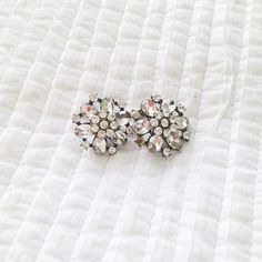 J.Crew Earrings Missing a small stone but not noticeable when you wear them. Great for going out or for nice occasions! J. Crew Jewelry Earrings