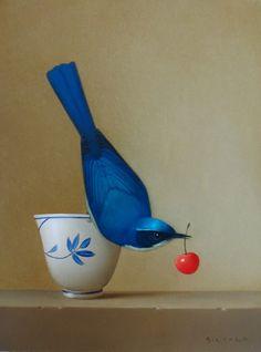 'An Offering.' Painting by Sarah Siltala. Still Life Art, Blue Jay, Bird Art, Beautiful Paintings, Beautiful Birds, Oeuvre D'art, Art Boards, Art Drawings, Art Photography