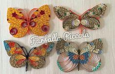 Квиллинг и бумажное творчество Бабочки от Atelier Farfalla Piccola. #квиллинг_идея_paper