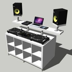 DJ Booth / DJ Pult / DJ Tisch Bauanleitung aus IKEA Möbeln.