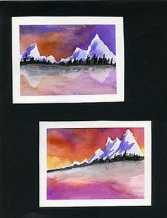 mini Landscapes-teaching the rule of 3rds