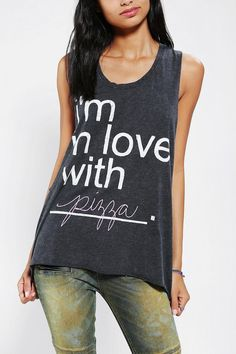 Relationship status: in love with this pizza muscle tee from DOE. #urbanoutfitters