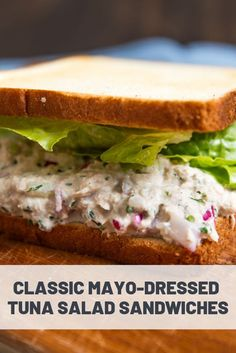 Whether with mayo or without, these tuna salad sandwiches hit all the right notes, thanks to a secret umami blast. Tuna Sandwich Recipe Easy, Salad Sandwich, Sandwich Recipes, Sandwich Ideas, Tuna Recipes, Rib Recipes, Salad Recipes, Easy Tuna Salad, Tacos