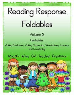 Reading Response Foldables Volume 2 from Mrs. Wyatt's Wise Owl Teacher Creations on TeachersNotebook.com -  (24 pages)  - Reading Response Foldables Volume 2