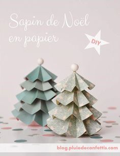 Christmas tree made of paper Christmas Minis, Diy Christmas Tree, Christmas Crafts For Kids, Holiday Crafts, Christmas Decorations, Paper Folding Crafts, Diy Paper, Paper Crafts, Origami
