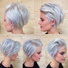 short+silver+grey+blonde+choppy+bob