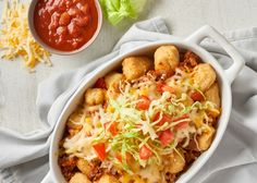 Cauliflower Totchos | Green Giant Canada Recipes Like traditional nachos, except the base is loaded with better-for-you Cauliflower Veggie Tots. Perfect for a fun weeknight dinner, entertaining or a hearty snack.